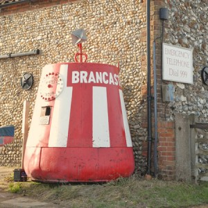 Big Buoy at brancaster staithe harbour