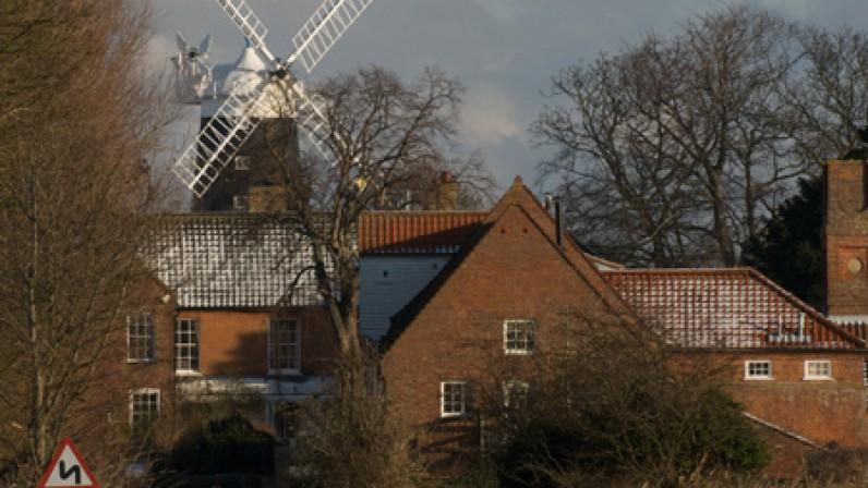 Burnham Overy Staithe Mill Winter