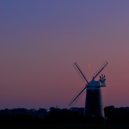 Burnham Overy staithe mill sunset