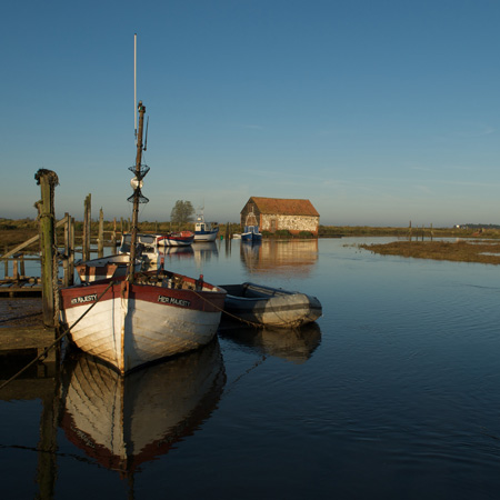 Thornham Harbour at High Tide