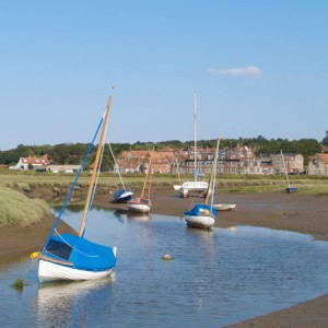 Boats Moored in Blakeney Creeks