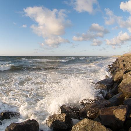 Crashing Waves on brancaster beach